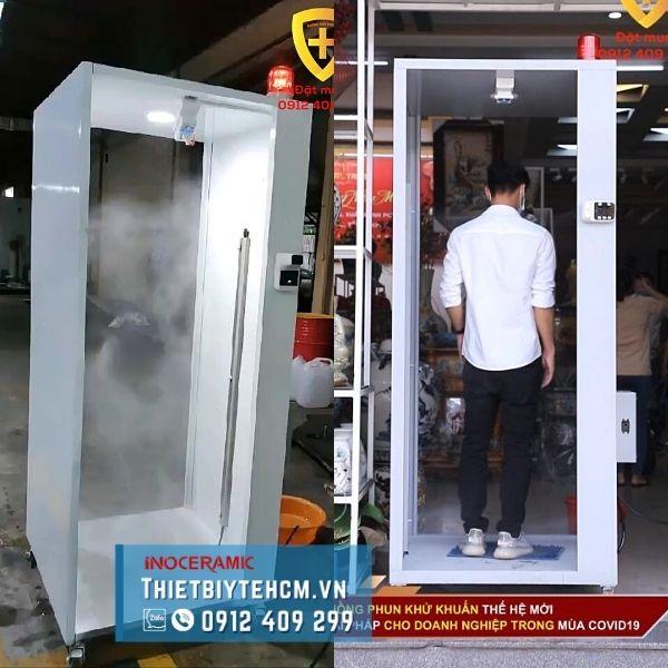 Buồng phun khử khuẩn tự động - Cảm biến nhiệt độ