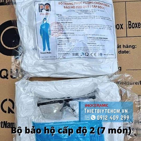 Trang phục bảo hộ y tế cấp độ 2 - Đồ bảo hộ chống dịch 7 món