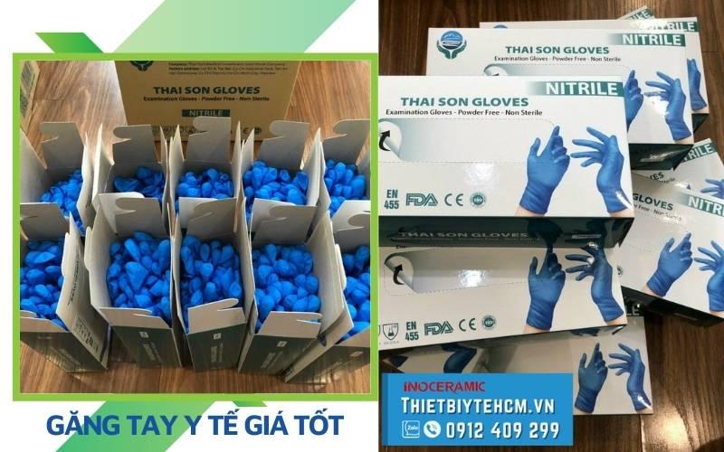 Nơi bán găng tay y tế nitrile giá tốt TPHCM - Ngành nghề dùng Bao tay nitrile