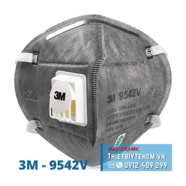 Khẩu trang 3M - 9542V | Khẩu trang chống virus có van thở