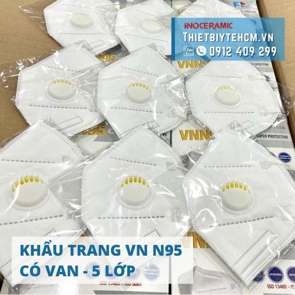 Khẩu trang VN N95 có van (5 lớp) | Khẩu trang chống dịch Pt Mask