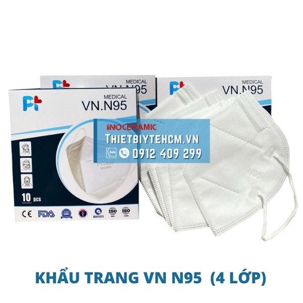 Khẩu trang y tế 4 lớp VN N95 | Khẩu trang chống dịch Pt Mask