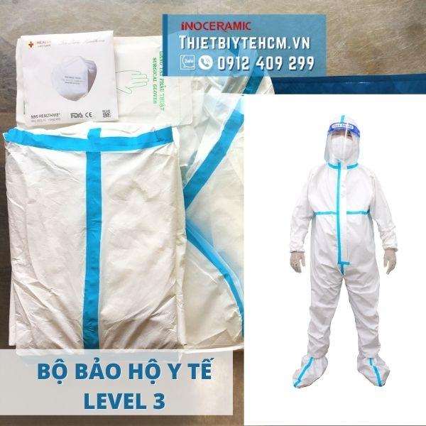 Quần áo bảo hộ chống dịch 7 món - Level 3