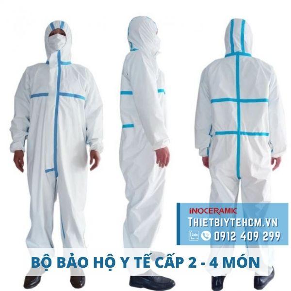 Trang phục bảo hộ y tế cấp độ 2 - Đồ bảo hộ chống dịch 4 món