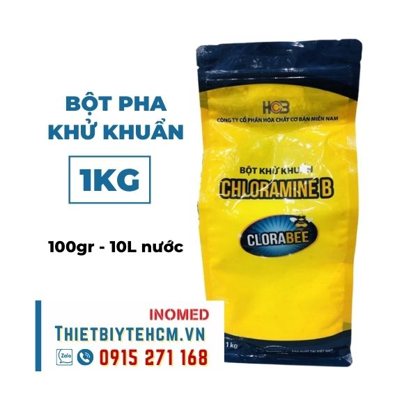 Bột pha dung dịch cloramin B khử khuẩn 1KG - CHLORAMINE B 25%