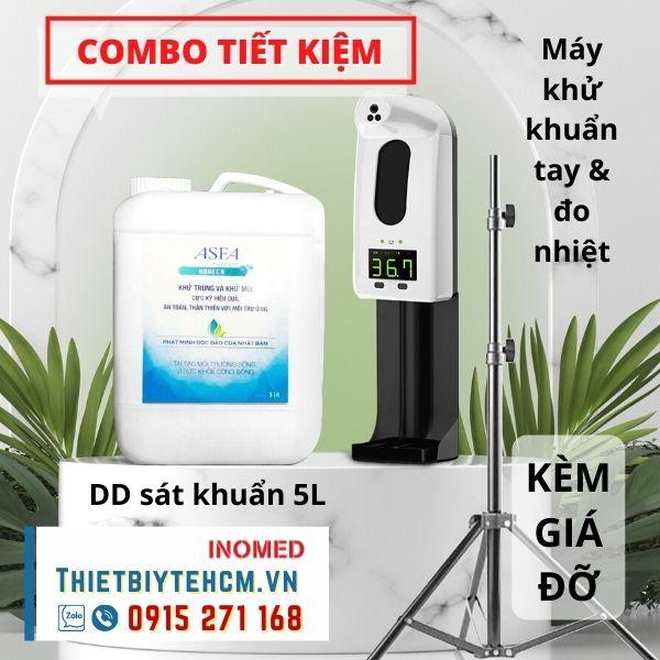 [Combo] Máy khử khuẩn tay Đo nhiệt độ V18 Pro và nước sát khuẩn 5L