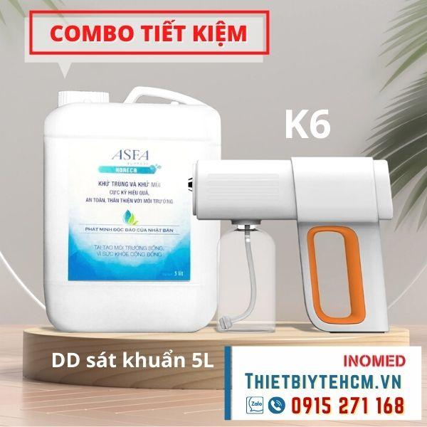 [Combo] Súng phun khử khuẩn K6 và nước sát khuẩn 5L