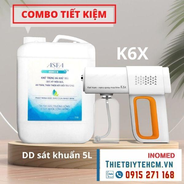 [Combo] Súng phun khử khuẩn K6X và nước sát khuẩn 5L
