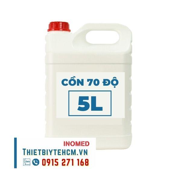 Cồn y tế sát khuẩn 70 độ - Cồn Ethanol can 5 lít - Kho Thiết bị y tế HCM