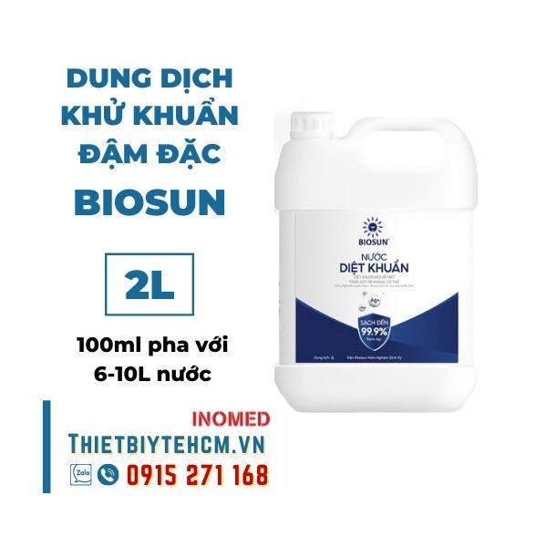 Dung dịch khử khuẩn đậm đặc BIOSUN (chưa pha) 2L