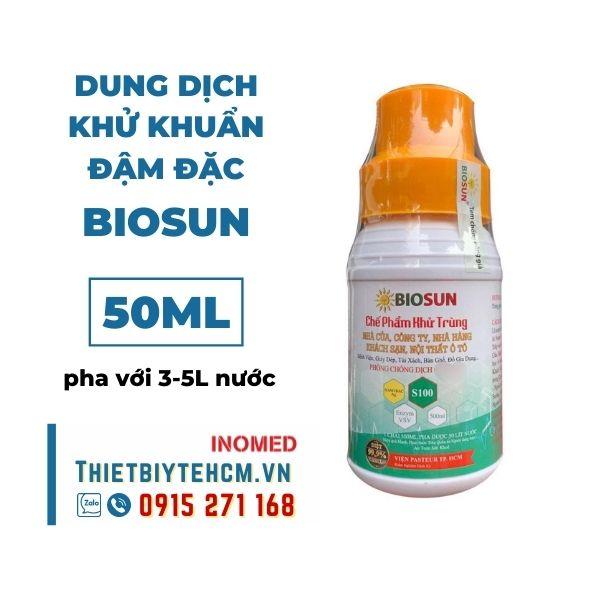 Dung dịch khử khuẩn đậm đặc BIOSUN (chưa pha) 50ML
