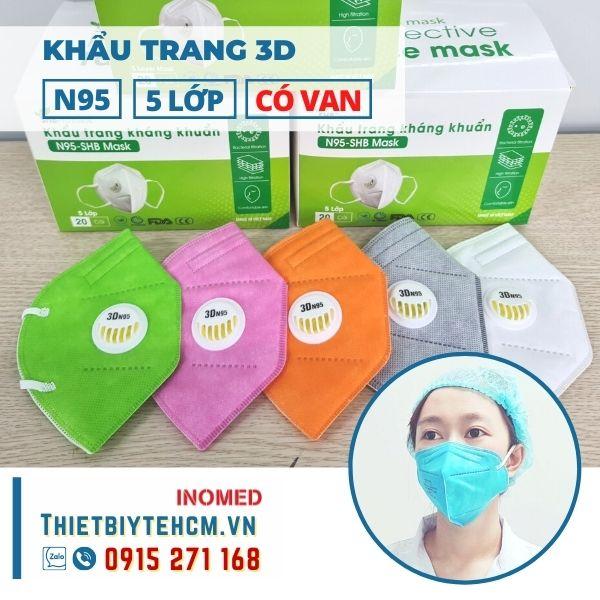 Khẩu trang 3D N95 có van - SHB mask