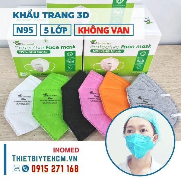 Khẩu trang 3D N95 không van - SHB mask