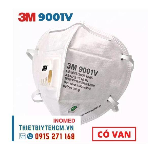 Khẩu trang 3M - 9001V | Khẩu trang chống virus có van thở