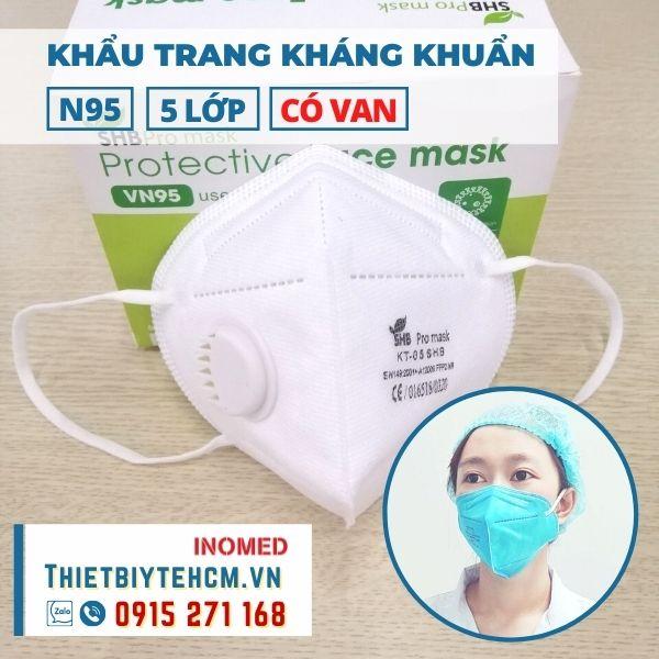 Khẩu trang kháng khuẩn VN95 có van - SHB mask