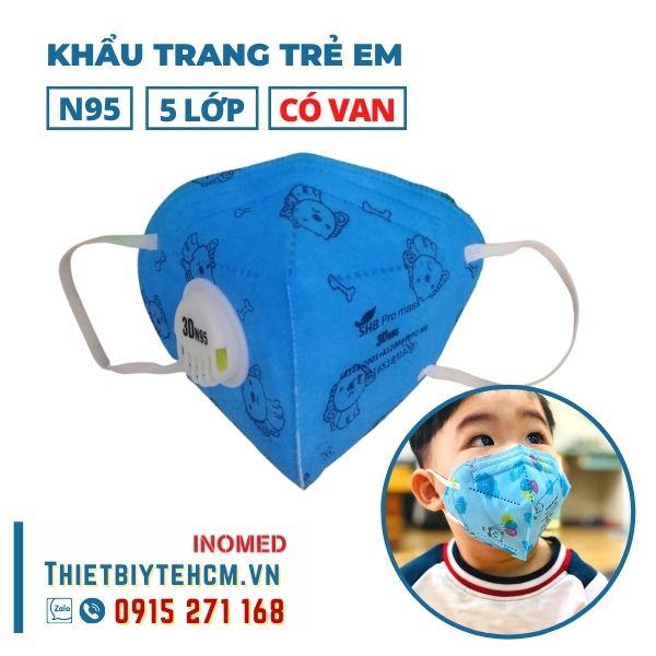 Khẩu trang trẻ em kháng khuẩn 5 lớp có van - SHB kids mask 01