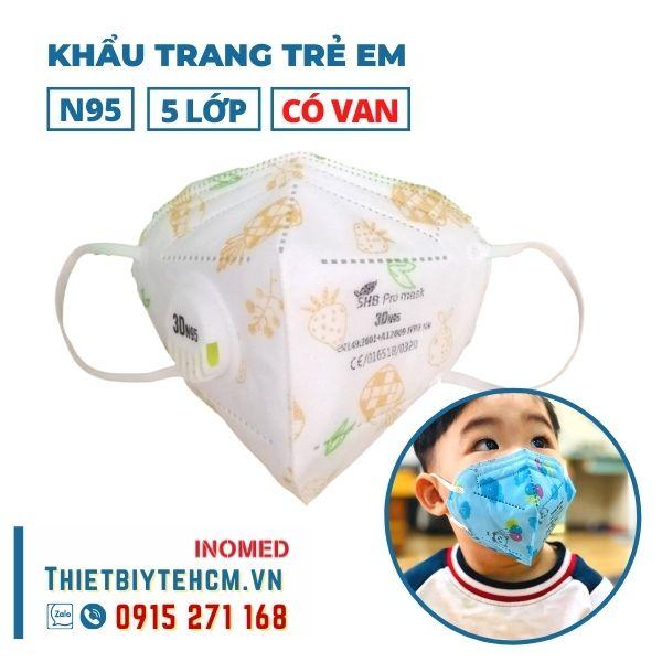 Khẩu trang trẻ em kháng khuẩn 5 lớp có van - SHB kids mask 02