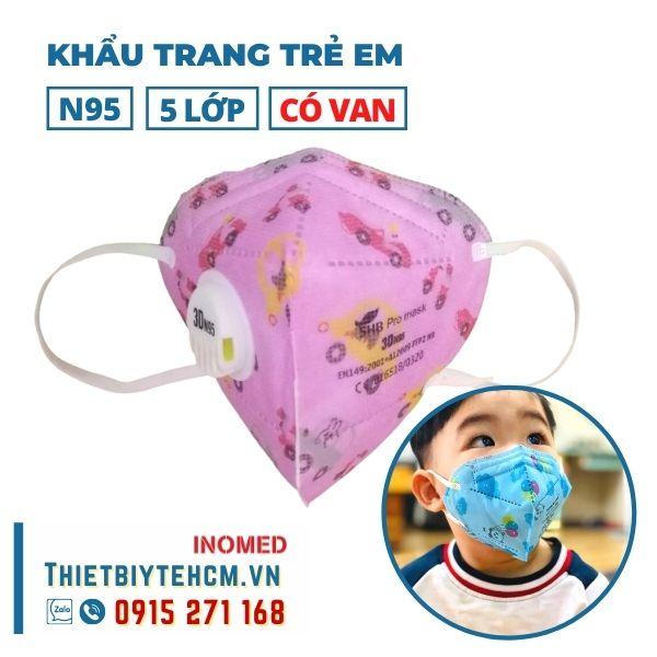 Khẩu trang trẻ em kháng khuẩn 5 lớp có van - SHB kids mask 03