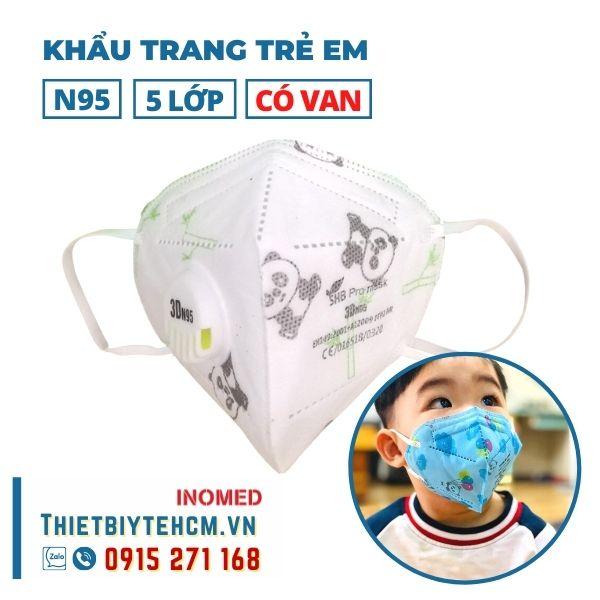Khẩu trang trẻ em kháng khuẩn 5 lớp có van - SHB kids mask 04