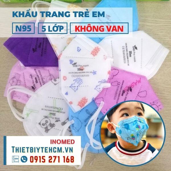 Khẩu trang trẻ em N95 3D không van - SHB kids mask