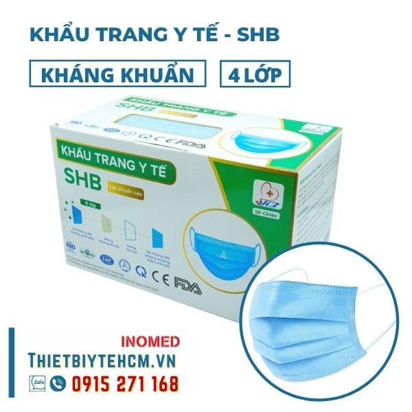 Khẩu trang y tế 4 lớp kháng khuẩn - SHB mask